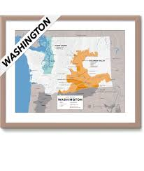 Aberdeen Washington Map by Detailed Map Of Wine Regions In Washington Usa Wine Posters