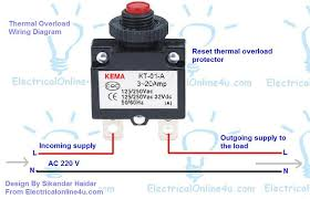 how to wire reset thermal overload protector electrical online 4u