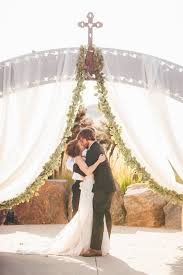wedding arch lace ceremony flowers decor more lace and lilies