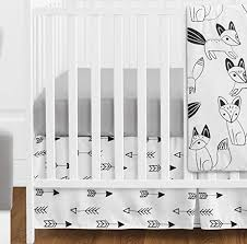 White Crib Bedding Grey Black And White Fox And Arrow Baby Boys Or 11