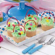 easter badkets cupcake easter baskets recipe taste of home