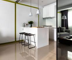 Interior Assistant Raised Breakfast Bar Swedish Assistant Design Leather Kitchen