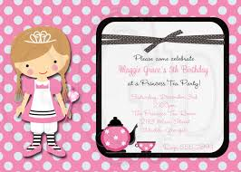 Princess Invitation Card Tea Party Invitation Princess Tea Party Digital File