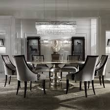 large round dining table large round italian chagne leaf dining table and chairs set