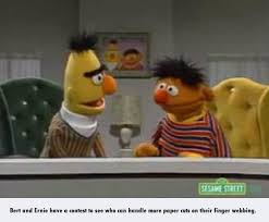 Bert And Ernie Meme - bert and ernie have a contest bertstrips know your meme
