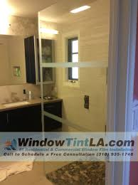 shower door privacy film window tint los angeles