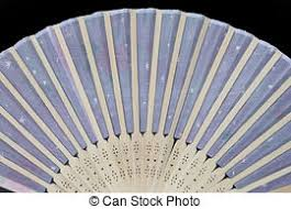 asian fan stock photo of china blue fan isolated on black background