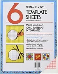 Template Sheets Amazon Com Dritz Quilting Non Slip Vinyl Template Sheets 6 Count