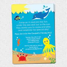 thomas and friends birthday party invitations under the sea birthday invitations kawaiitheo com