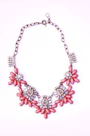 crystal necklace store images Coral and gold glass crystal necklace atarah jewel online store jpg