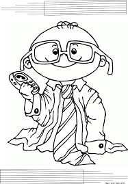 mini man coloring pages toddler kids