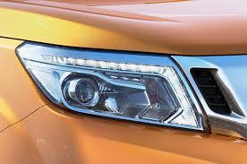 nissan leaf daytime running lights nissan np300 navara could hint next frontier pickup motor trend wot