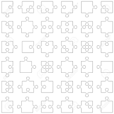 accurate transparent contours of popular design elements jigsaw
