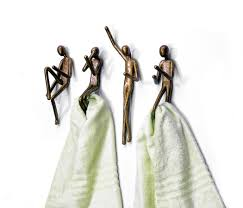 unique towel hooks with stylish brass the human form funny towel