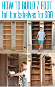 how to make bookshelves tall bookshelves wood projects and