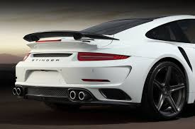 porsche widebody rear porsche 991 turbo s top car stinger gtr body kit