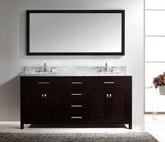 Online Bathroom Vanity by Virtu Usa Md 2072 Wmsq Es Caroline 72 Inch Bathroom Vanity With