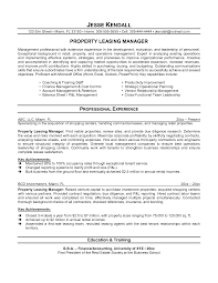 Sales Agent Resume Sample by Leasing Agent Resume Resume Example