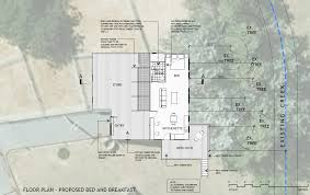 floor plan application plans and report for bed and breakfast application fleurieu