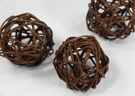 twig balls 2 brown 12 balls pkg