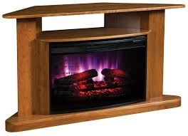 Corner Tv Stands With Electric Fireplace by Classic Corner Led Fireplace Tv Stand From Dutchcrafters Amish