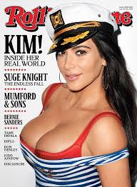 kim kardashian covers rolling stone and displays ample cleavage in
