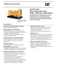 caterpillar spanish 3406c 300kvastandby lowbsfc50hznb emcp4