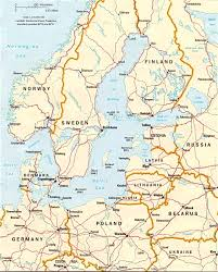 Blank Physical Map Of Europe by Baltic Sea Region Norway Sweden Denmark Travel Europe