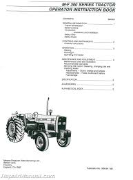 massey ferguson mf350 mf399 dsl tractor operators manual js mh o
