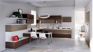 Grey Wood Floors Kitchen by Modern White Kitchen Cabinets Minimalist Varnished Wooden Table