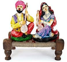 buy tied ribbons u0026reg rajasthani couple idols home decor items