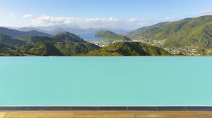 infinity edge 25m by 6m fibreglass swimming pool by mayfair pools