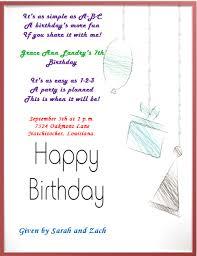 birthday invite template 10 most beautiful 7th birthday invitation templates with unique