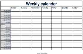 weekly calendar with time slots printable 2017 calendars microsoft
