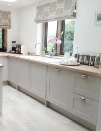 modern country style shaker kitchen with cabinet doors from the