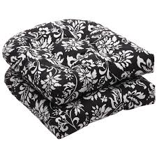 One Piece Rocking Chair Cushions Furniture Black White Floral Wicker Chair Cushions