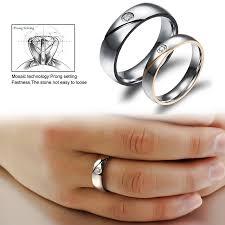 name wedding rings images Couple rings engrave name wedding rings for women men cz crystal jpg