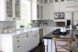 modern farmhouse kitchen with white cabinets farmhouse kitchen renovation from dated to gorgeous
