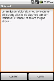 android notepad android notepad is a small lightweight text editor for those