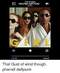 Pharrell Meme - pharrell williams wind feat daft punk o girl oo35 oll l43 that gust