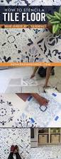 how to stencil a tile floor in 10 steps kitchen u0026 bathroom floor