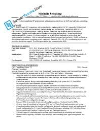 Best Resume Samples For Hr by Sap Fico Sample Resume Cover Letter