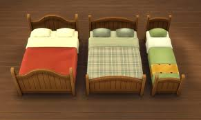 mod the sims rustic bed frames