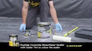 Concrete Patio Resurfacing Products by Dunlop Concrete Resurfacer And Sealer Youtube