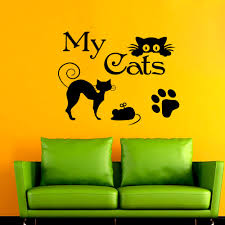 Decoration Cat Wall Decals Home by Wall Decal My Cat Paw Decals Vinyl Sticker Grooming Salon Pet Shop