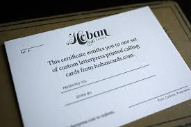 gift card business hoban press hoban cards gift certificate