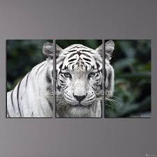 2017 modern wall art painting white tiger home decor canvas