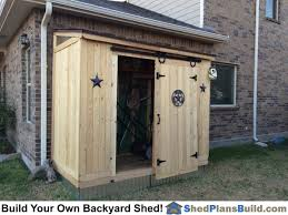 Diy Lean To Storage Shed Plans by Completed 4x8 Lean Lean To Backyard Storage Shed With Barn Door