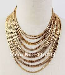 long chain choker necklace images Statement chunky chain necklaces pendants gold choker collar jpg