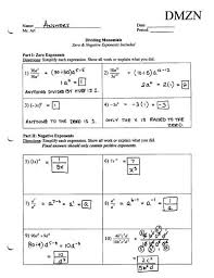 negative and zero exponents worksheet worksheets releaseboard